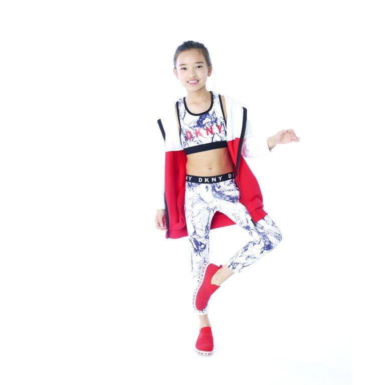 DKNY, tracksuitpants white navy treenihousut