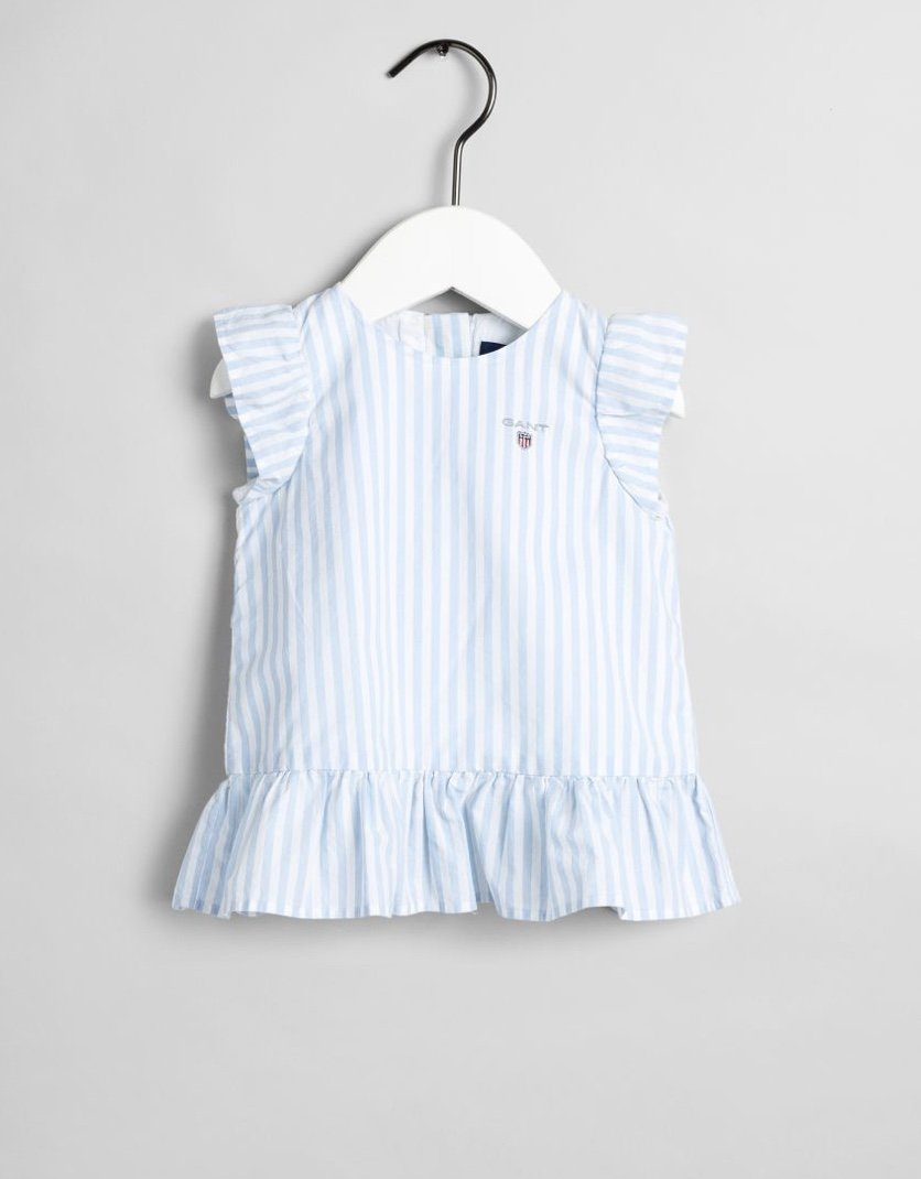 Gant, frill striped dress mekko vaaleansininen