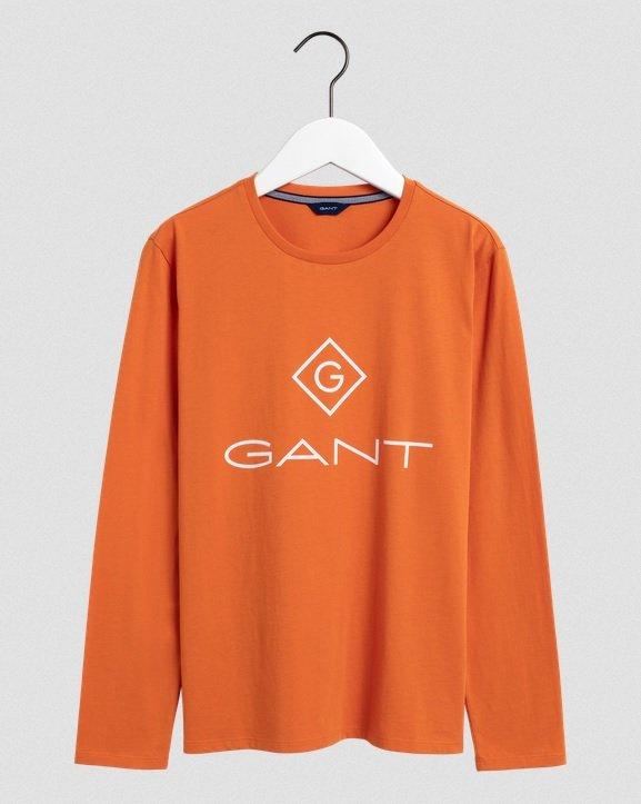 Nuorten Gant, lock-up pitkähihainen logo paita
