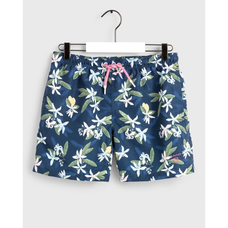 Gant, boy's swim shorts lemon flowers uimashortsit