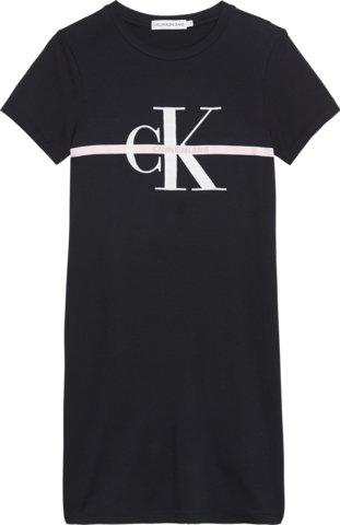 Calvin Klein, monogram stripe ss t-shirt mekko musta