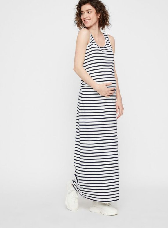 Mamalicious, STRIPED MATERNITY MAXI DRESS maximekko