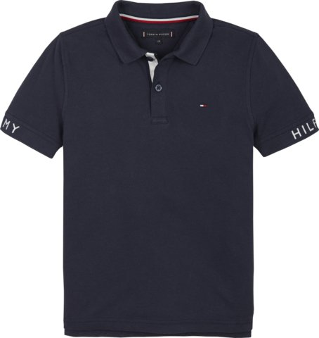 Nuorten Tommy Hilfiger, sleeve text polo s/s