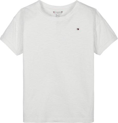 Nuorten Tommy Hilfiger, essential logo t-paita valkoinen