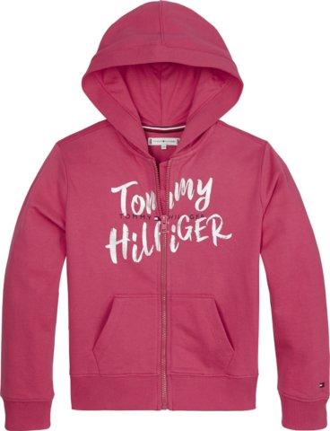 Tommy Hilfiger, graphic on graphic zip huppari pinkki