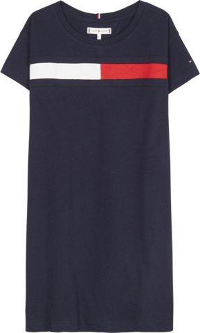 Nuorten Tommy Hilfiger, flag jersey mekko sininen