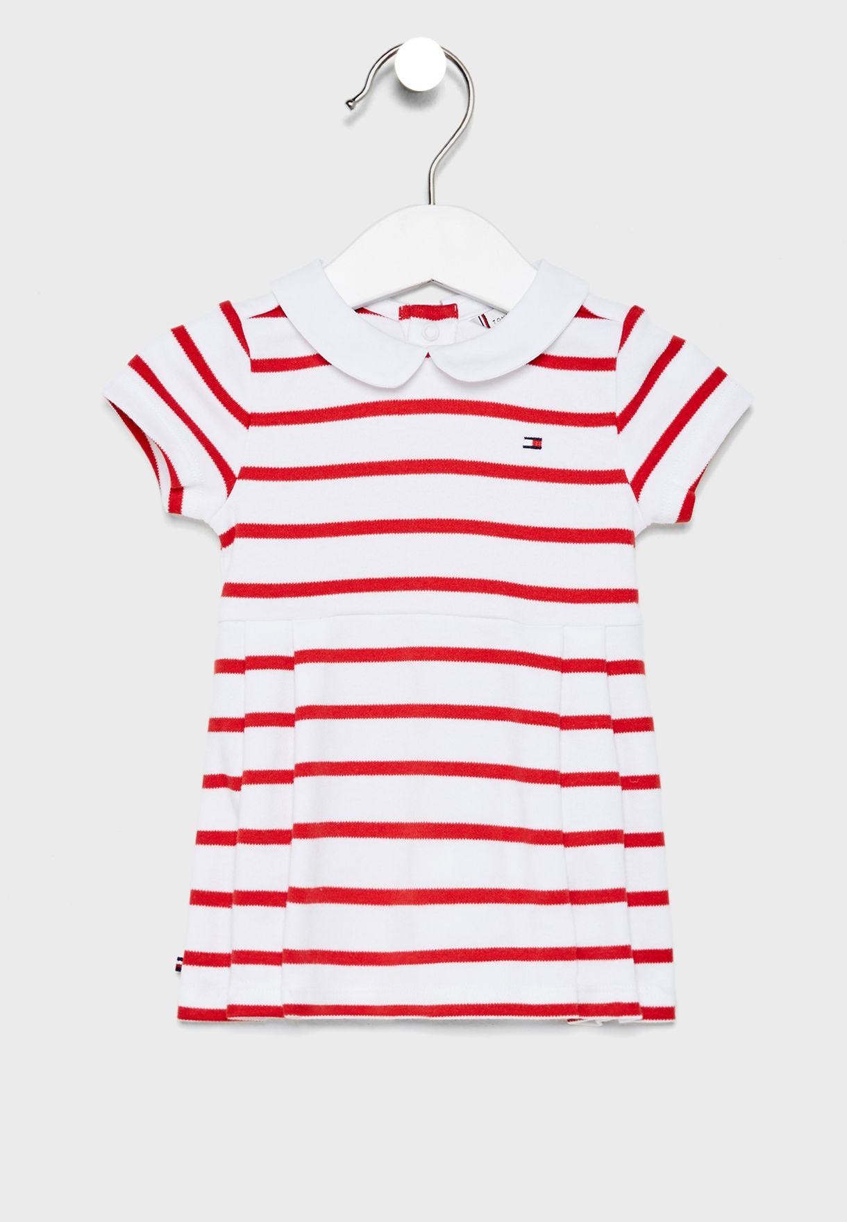 Tommy Hilfiger, baby girl rugby stripe mekko