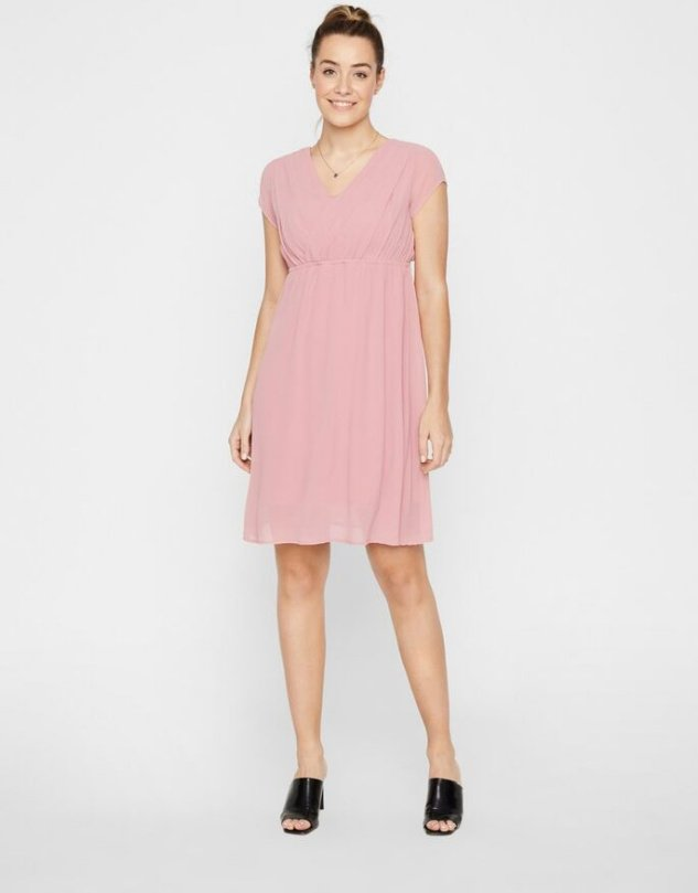 Mamalicious, CROSS-OVER NURSING MIDI DRESS imetysjuhlamekko
