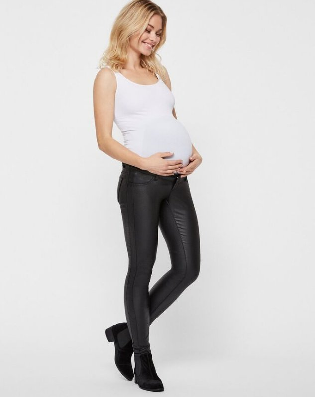 Mamalicious, COATED MATERNITY JEANS, SLIM FIT äitiysfarkut
