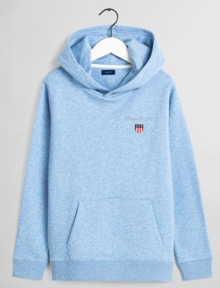Gant, medium shield sweat hoodie huppari nuorille meleerattu sininen