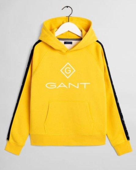 Gant D1. Lock Up stripe hoodie huppari keltainen