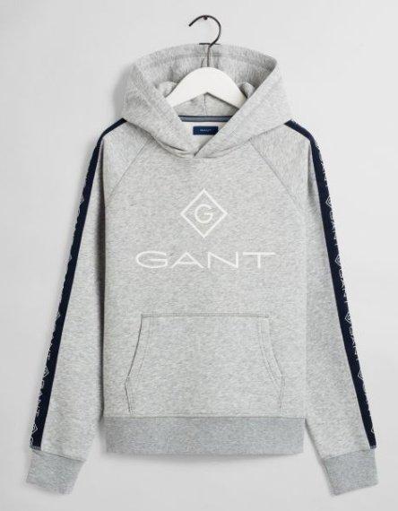 Gant D1. Lock Up stripe hoodie huppari harmaa