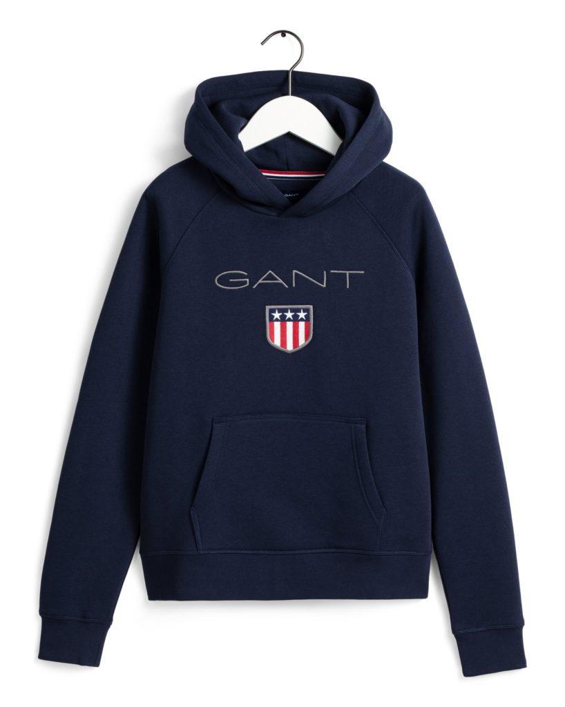 Gant, Shield Logo Sweat Huppari sininen