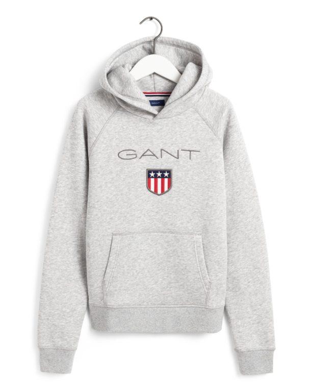 Gant, Shield Logo Sweat Huppari nuorille, harmaa