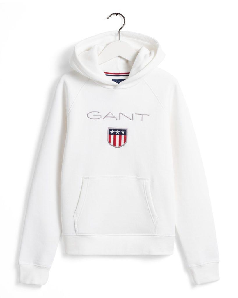 Gant, Shield Logo Sweat Huppari valkoinen