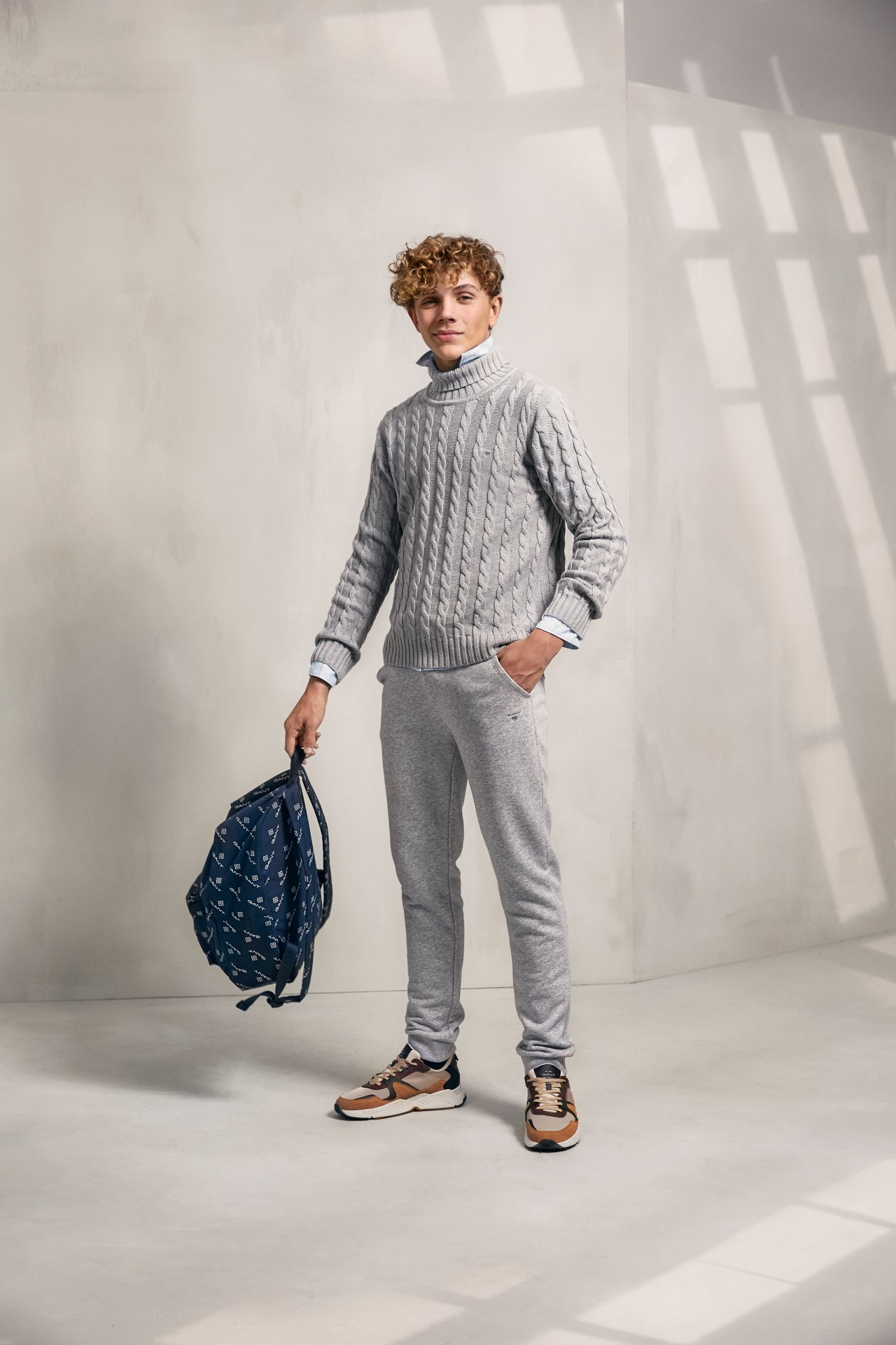 Gant, cotton cable turtle neck neule