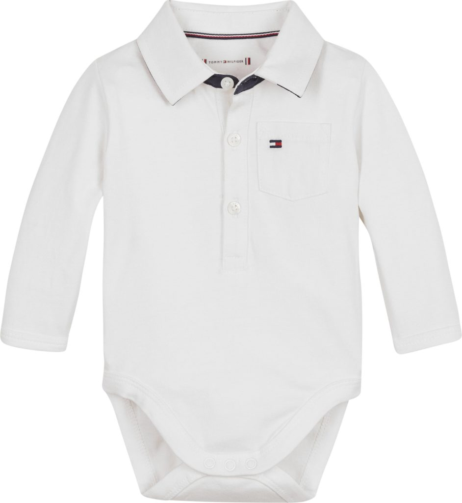 Tommy Hilfiger Baby boy poplin collar body ls