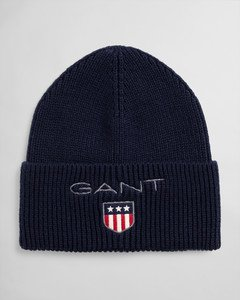 Gant, D1. Medium shield rib beanie pipo sininen