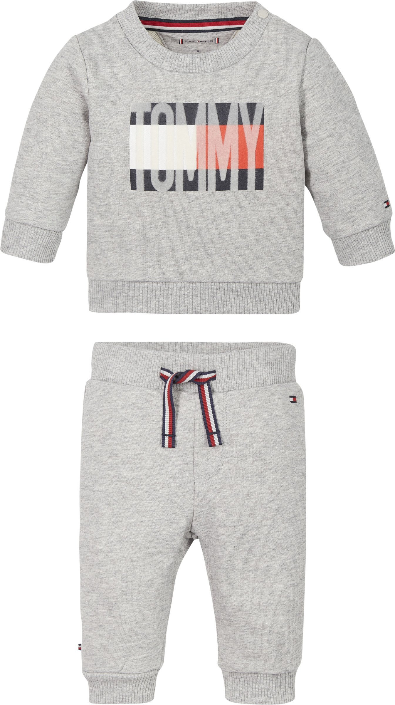 Tommy Hilfiger, Baby flag collegesetti harmaa