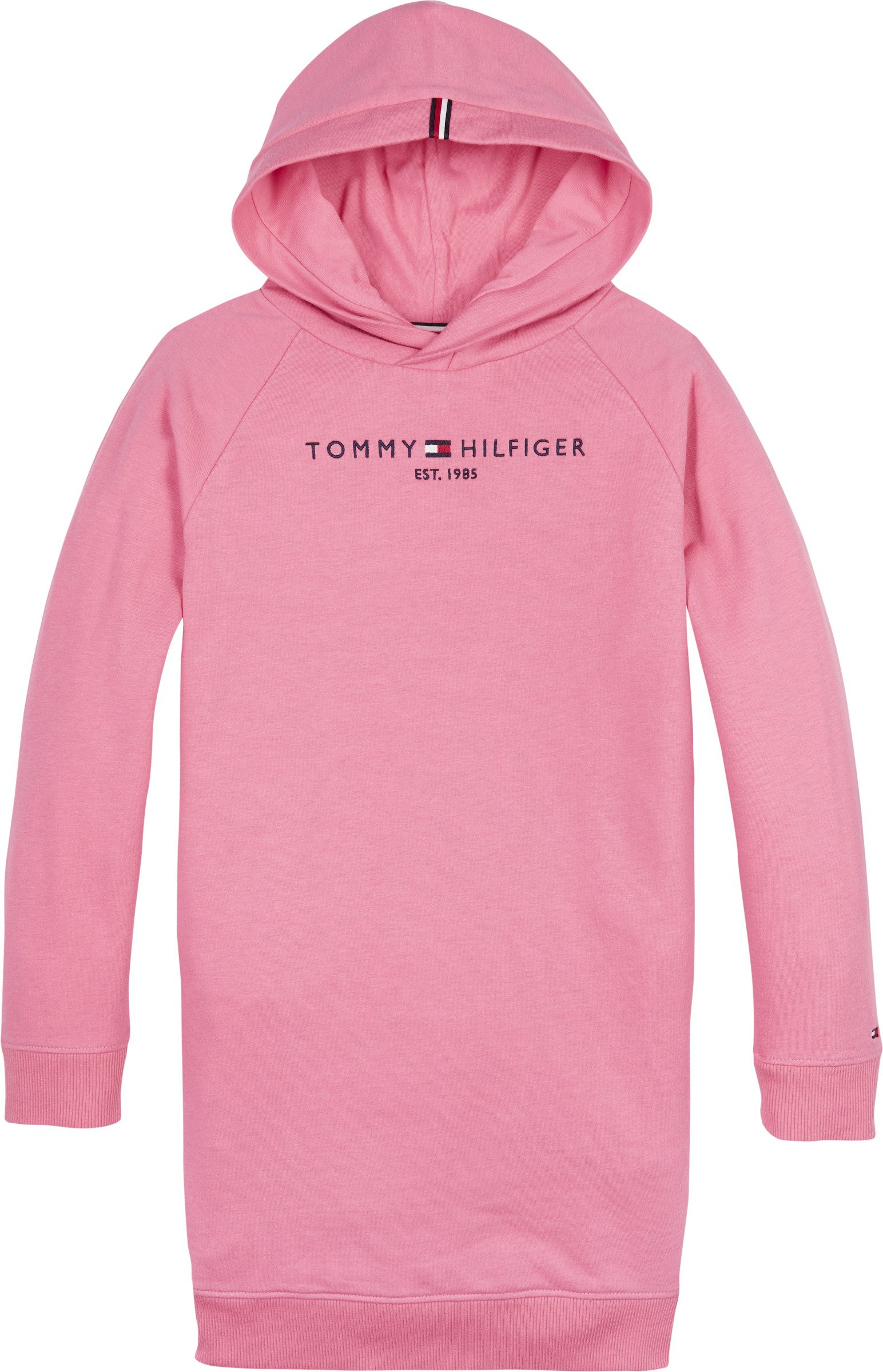 Tommy Hilfiger, essential hooded sweatdress l/s collegemekko, pinkki