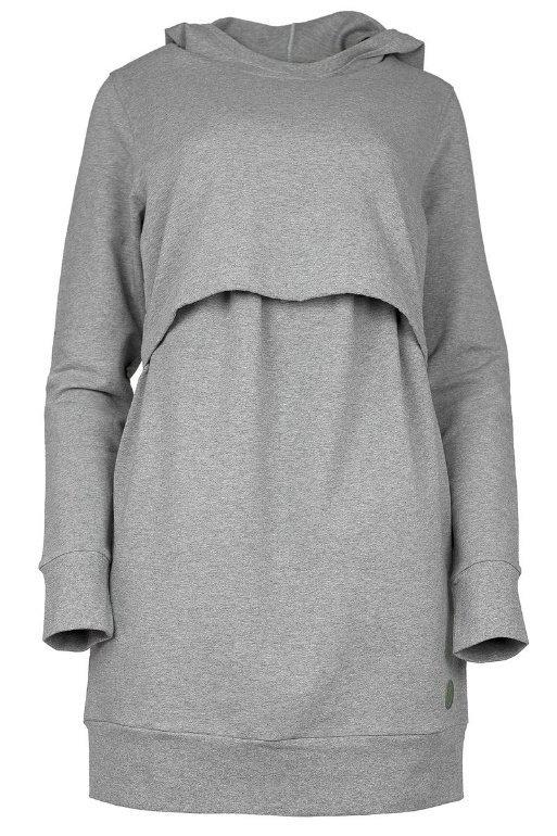 Blaa KAIRO Nursing hoodie, imetyshuppari harmaa