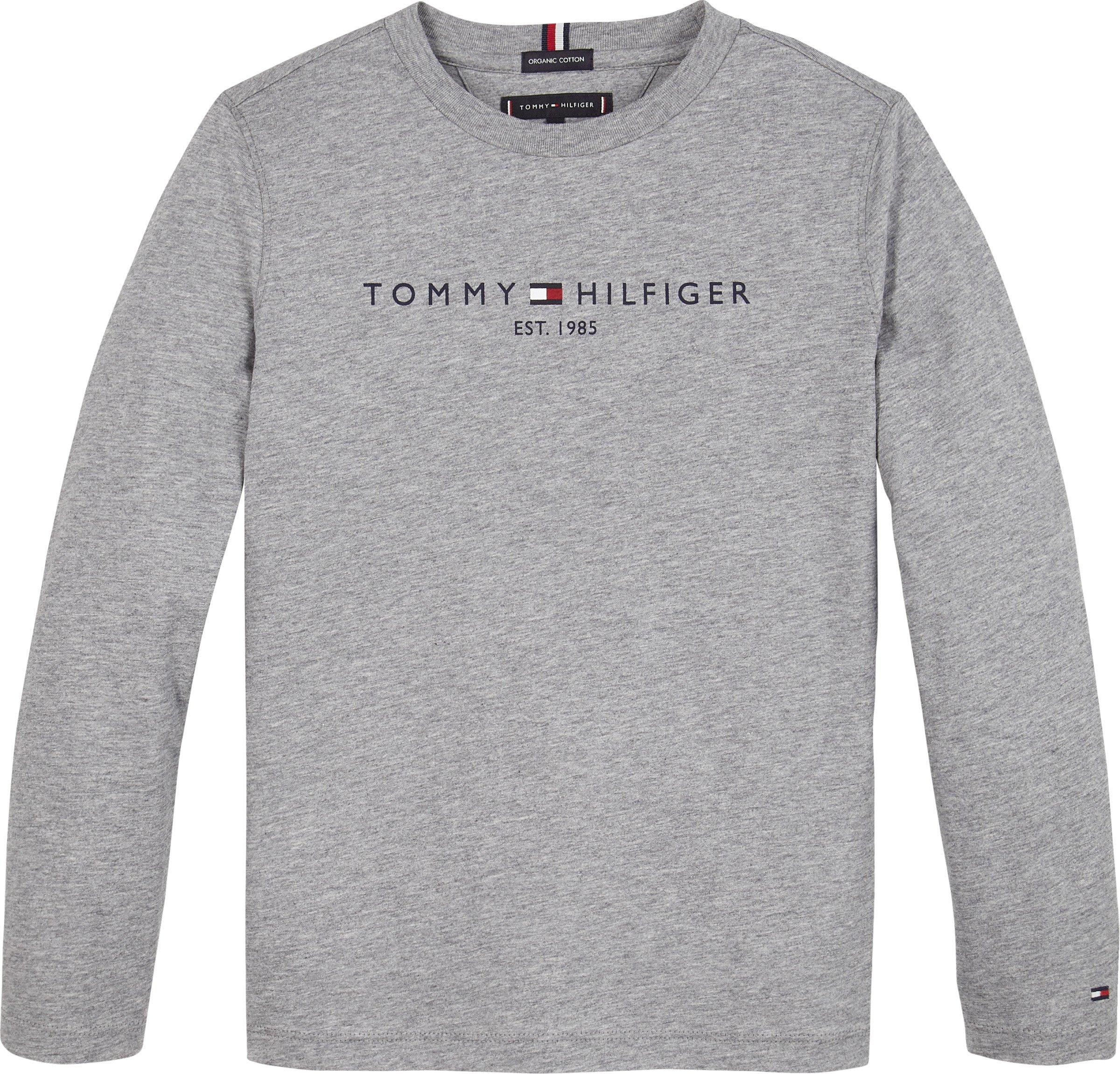 Nuorten Tommy Hilfiger, essential tee l/s, trikoopusero, harmaa