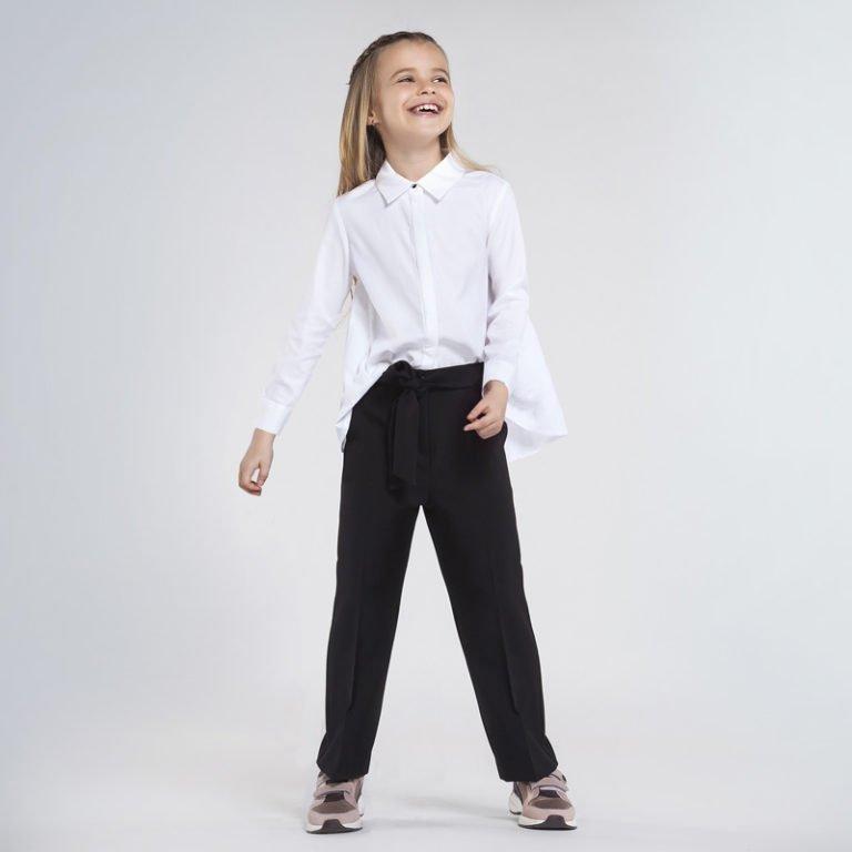Mayoral Cropped trousers housut tytölle, sininen