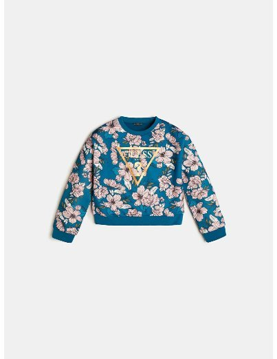Guess, front logo floral print swetari