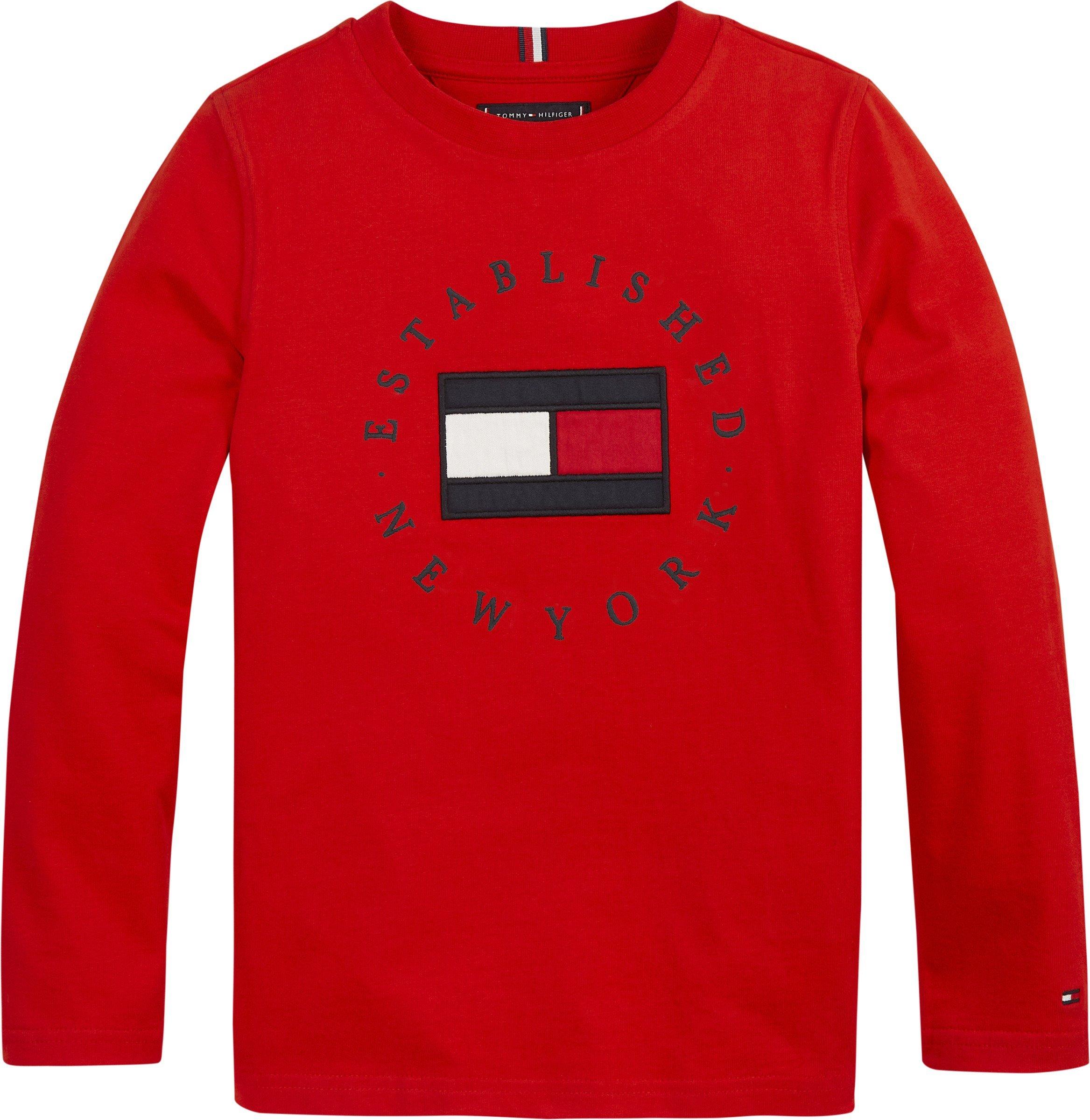 Punainen Tommy Hilfiger Heritage logo, tee l/s, pitkähihainen trikoopusero