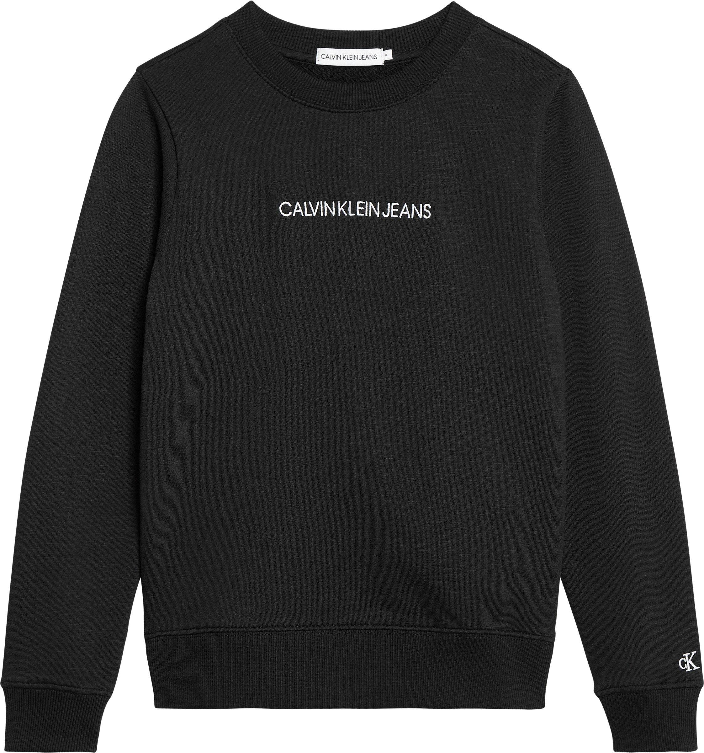 Calvin Klein, embroidered logo collegepusero, musta