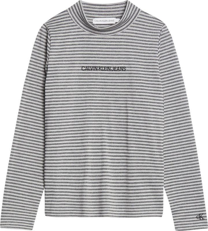 Calvin Klein, striped lurex paita