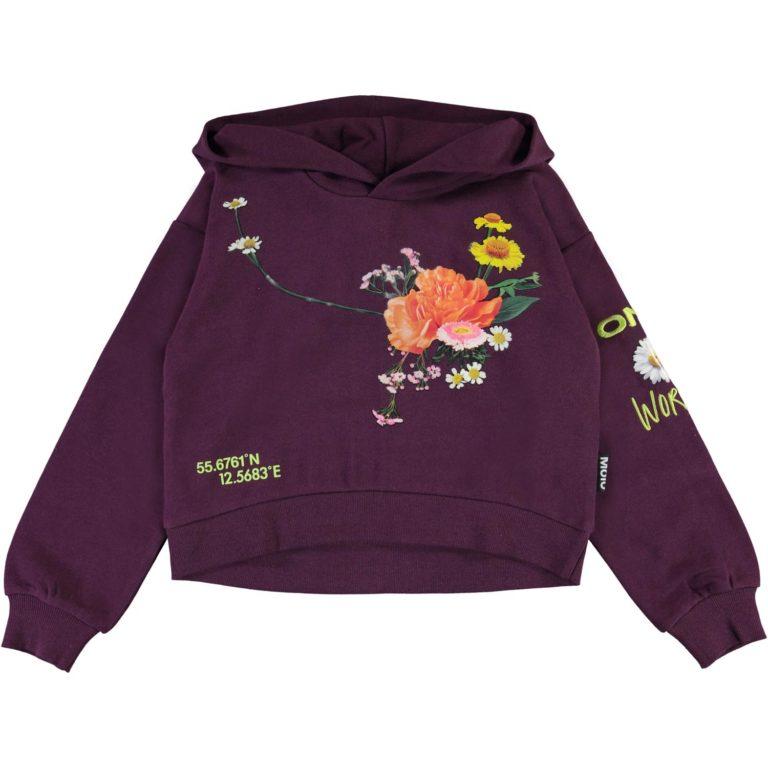 Molo Maren, violetti kukkahuppari
