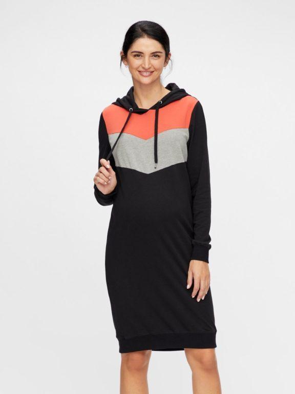 Mamalicious, MLNewester L/S Sweat dress, äitiyshupparimekko