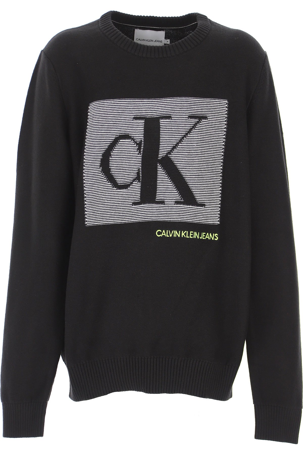 Calvin Klein, Monogram contrast sweater, luomupuuvillaneule