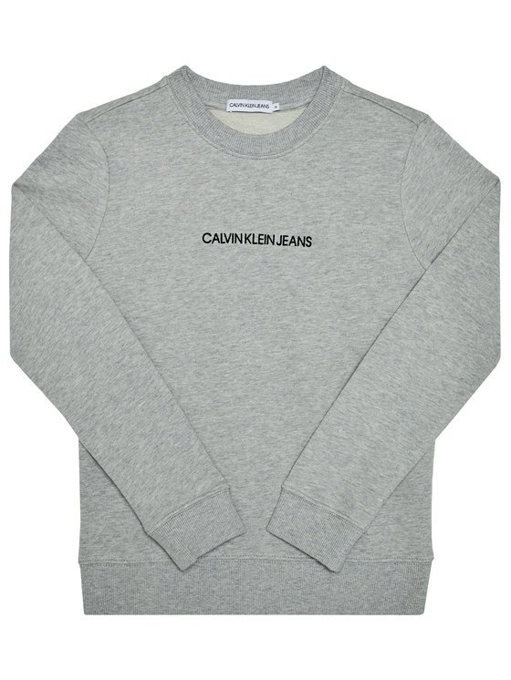 Calvin Klein, embroidered logo collegepusero, harmaa