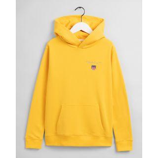 Gant, medium shield sweat hoodie huppari nuorille keltainen