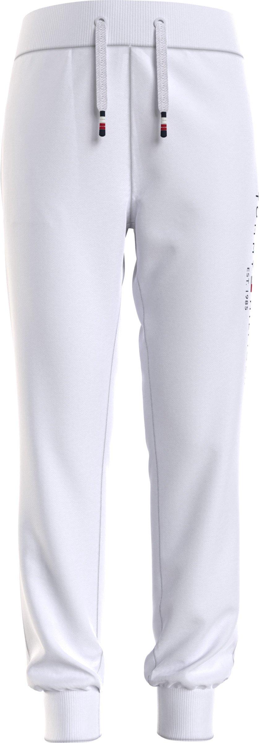 Nuorten Tommy Hilfiger, essential sweatpants collegehousut valkoiset