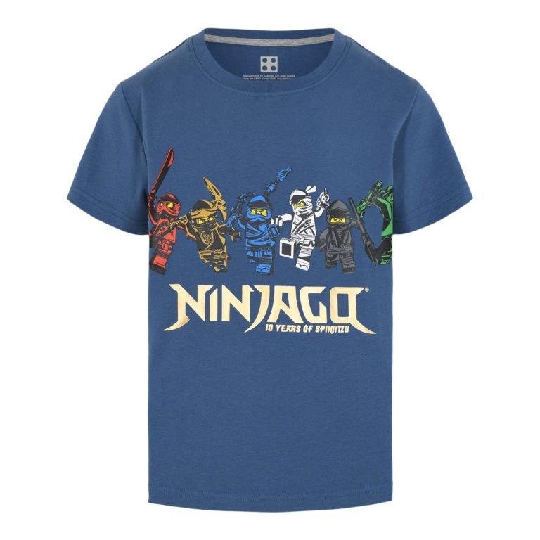 Lego Wear, Ninjago 10 years t-paita, sininen hahmot-logolla