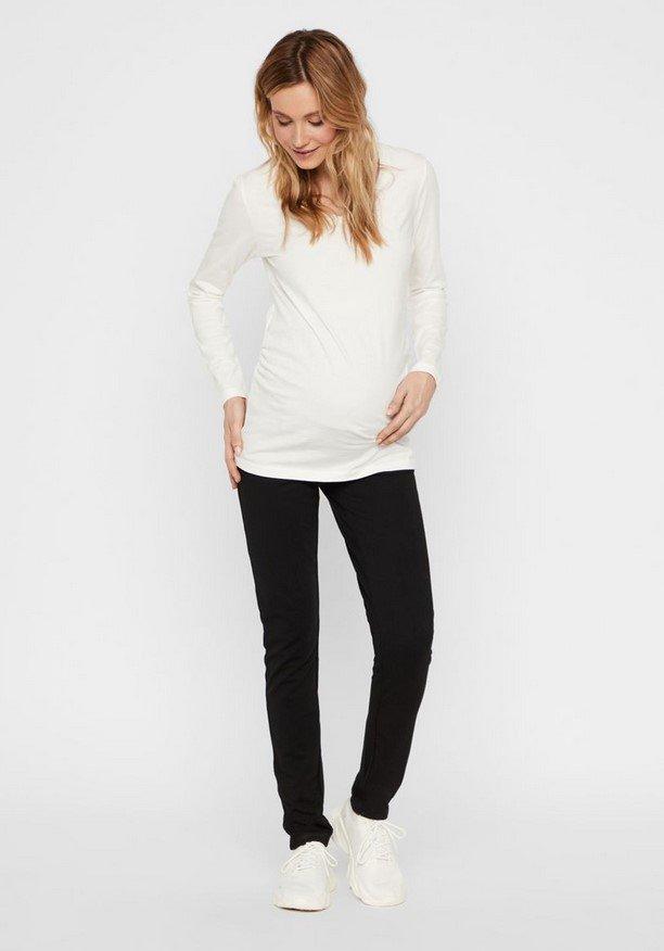 Mamalicious, MLALBA jersey pants, mustat äitiyshousut