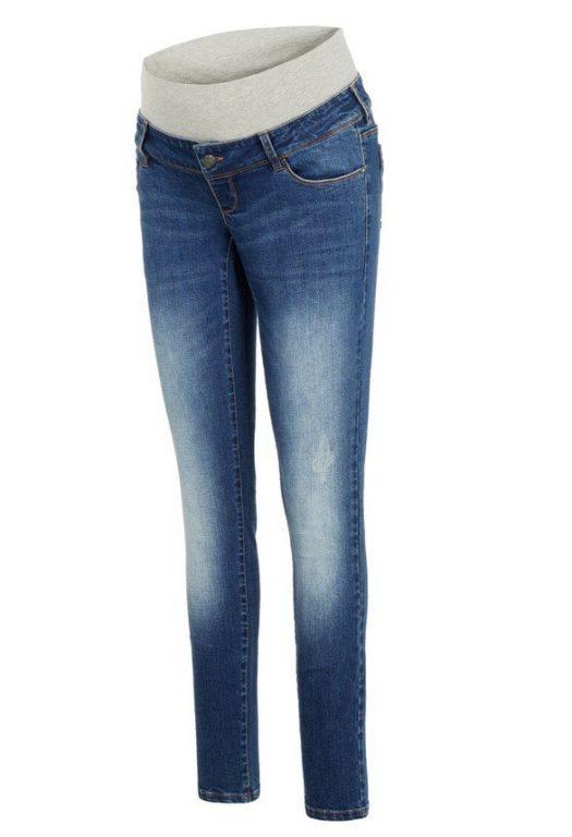 Mamalicious, MLFLORIDA slim short bumpband jeans, siniset äitiysfarkut