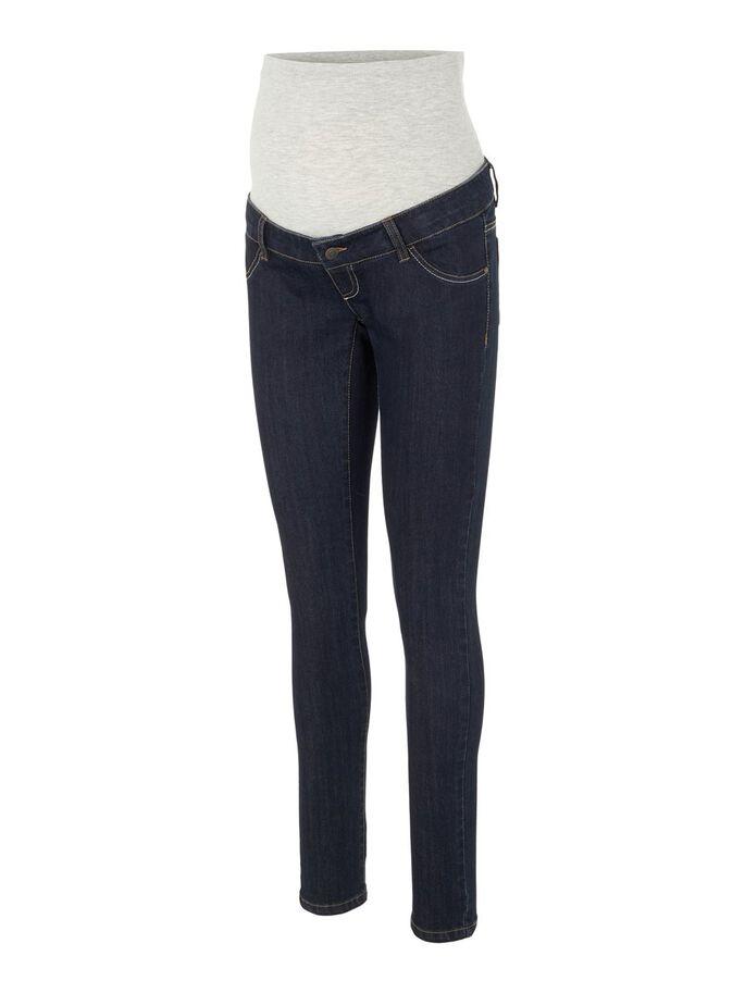 Mamalicious, Mljulia unwashed slim jeans, tummansiniset äitiysfarkut