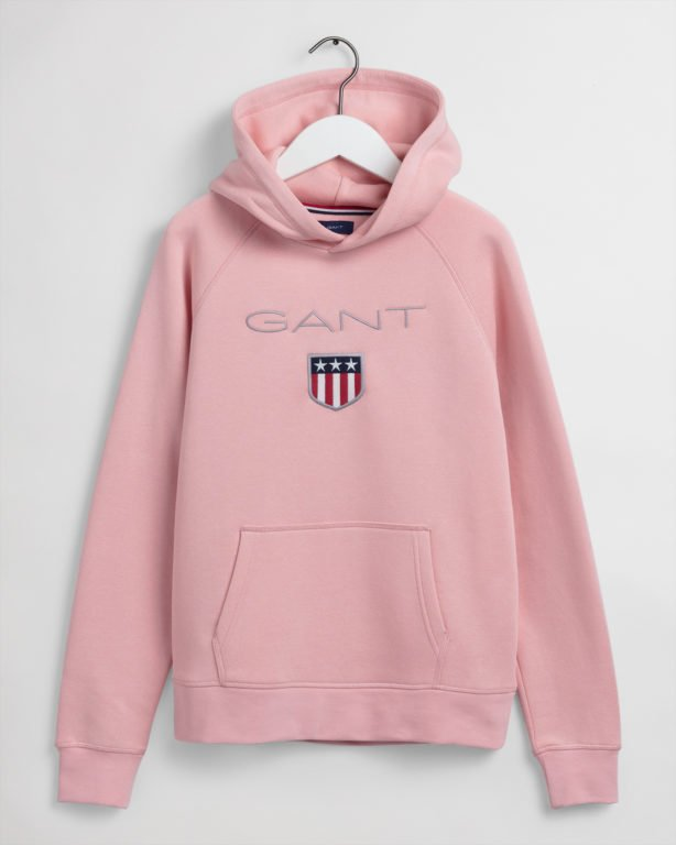 Gant, Shield Logo Sweat Huppari, vaaleanpunainen