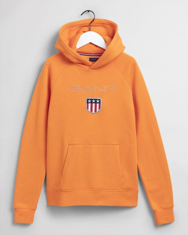 Gant, Shield Logo Sweat Huppari oranssi