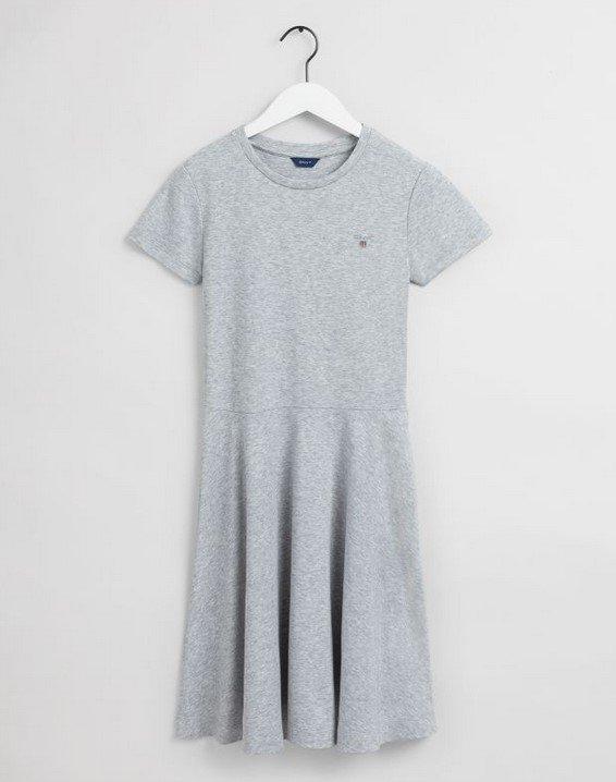 Gant, D1. Original jersey mekko nuorille, harmaa