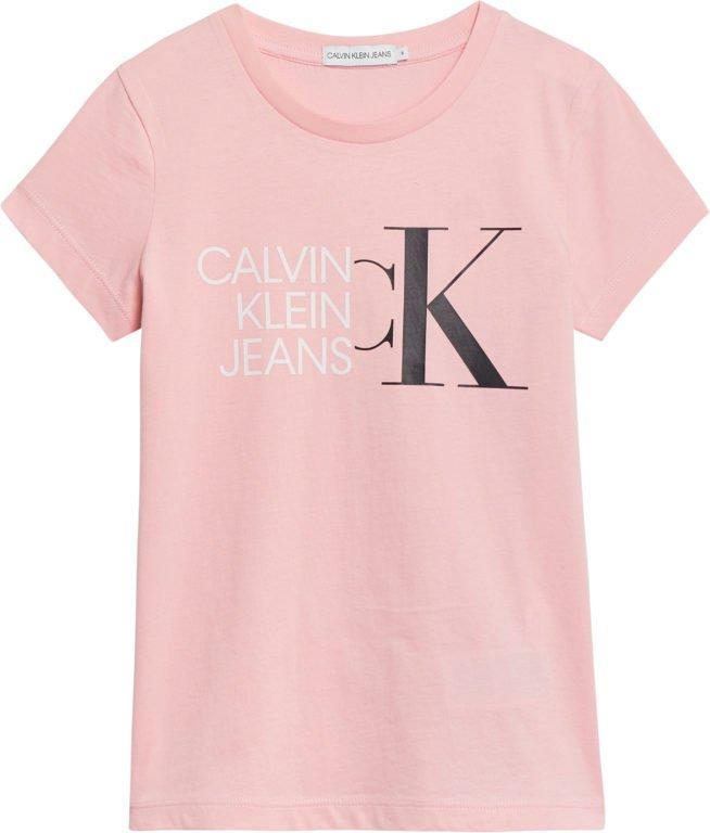 Calvin Klein, Hybrid logo slim shirt, pinkki
