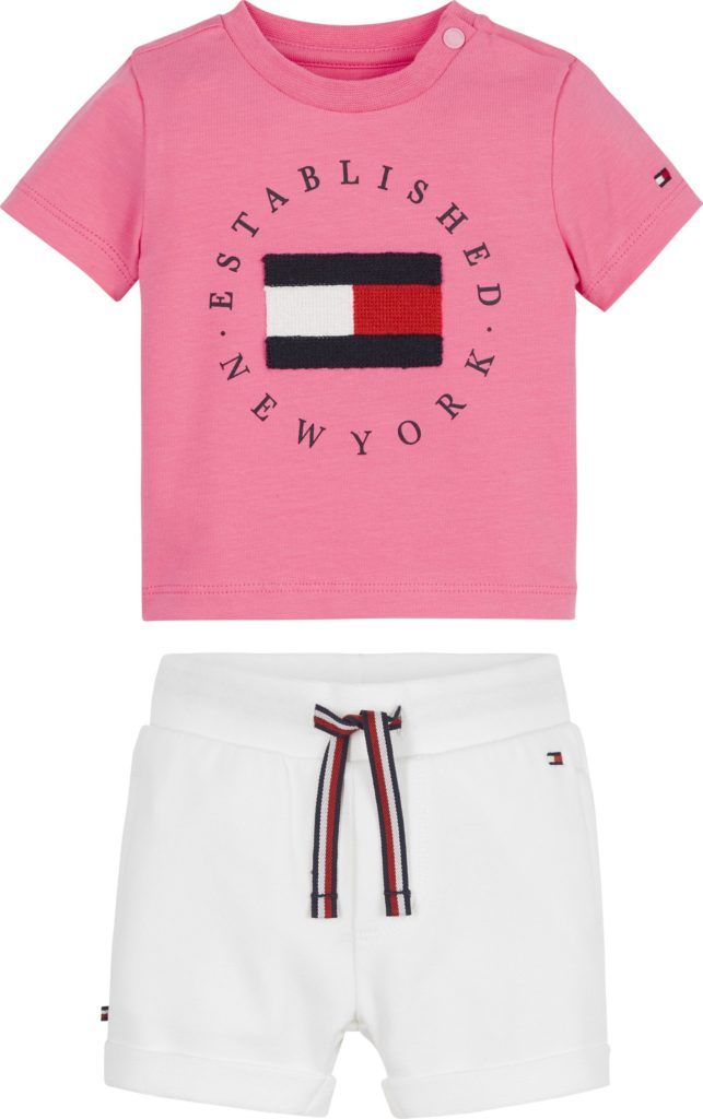 Tommy Hilfiger, Baby established shortsisetti, pinkki