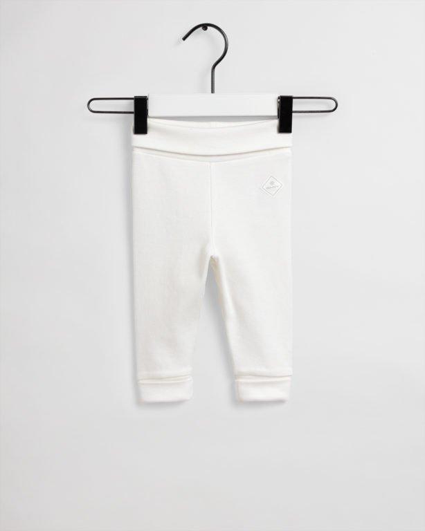 Gant, organic lock-up trikoohousut, valkoinen