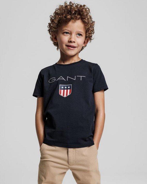 Gant, Lasten t-paita shield-logolla, tummansininen