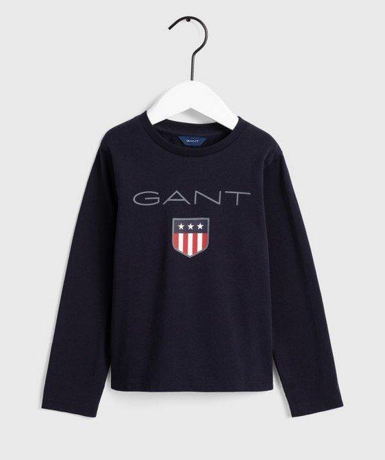 Gant, Lasten pitkähihainen pusero shield-logolla, tummansininen