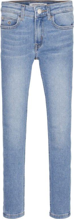 Calvin Klein, Super skinny farkut tytöille, vaalealla kulutuksella